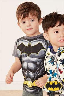 Short Sleeve Batman® Cape T-Shirt (3mths-6yrs)