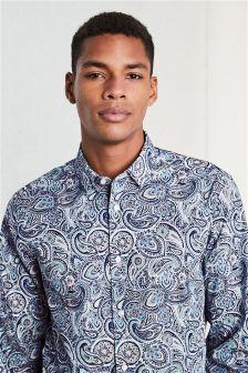 Paisley Print Regular Fit Shirt