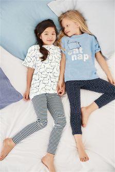 Cat Nap Legging Pyjamas Two Pack (3-16yrs)