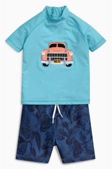 Car Swim Short And Vest Set (3mths-6yrs)