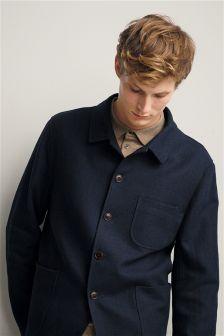 Фактурный пиджак зауженного кроя