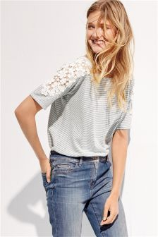 Lace Trim T-Shirt