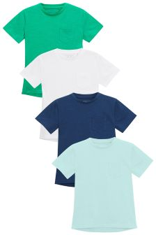 Curved Back T-Shirts Four Pack (3-16yrs)