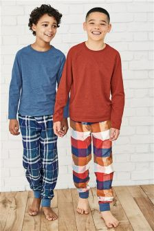 Check Long Pyjamas Two Pack (3-16yrs)