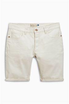 Зауженные джинсовые шорты