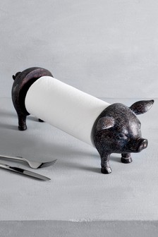 Pig Kitchen Roll Holder