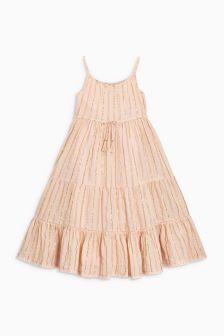 Metallic Stripe Maxi Dress (3-16yrs)