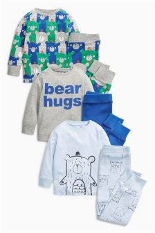 Bear Snuggle Pyjamas Three Pack (9mths-8yrs)