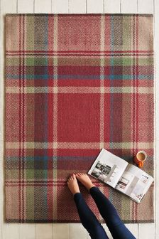 Wool Red Morcott Check Rug