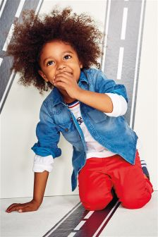 デニムシャツ (3 か月~6 歳)