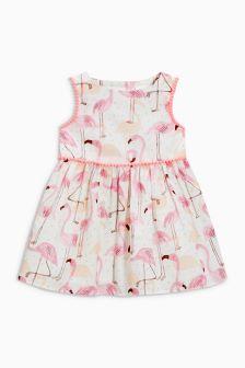 Flamingo Printed Dress (0mths-2yrs)