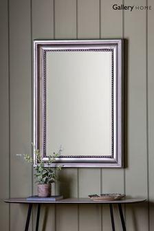 Beaded Pewter Mirror