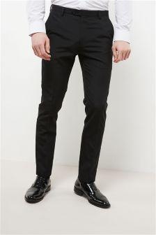 Wool Blend Tuxedo Suit: Trousers