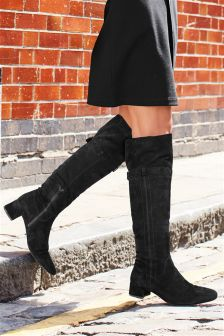 Over The Knee Buckle Detail Boots