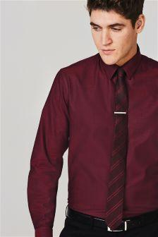 Textured Tonic Shirt And Tie Set