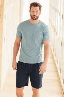 Fine Stripe Jersey Short Set