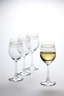 Set Of 4 Annelise Crystal Wine Glasses