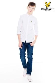 Biała koszula z długim rękawem Lyle & Scott Oxford