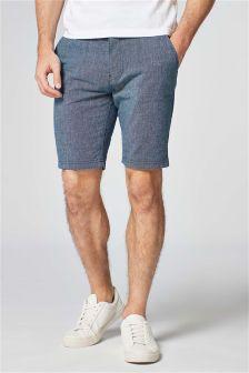 Linen Blend Chino Shorts
