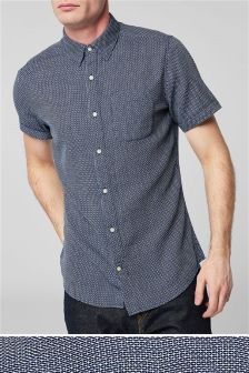 Short Sleeve Texture Shirt