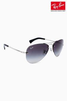 Srebrne okulary przeciwsłoneczne bez oprawek Ray-Ban® Aviator