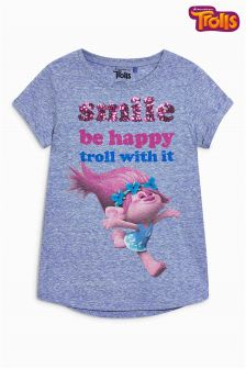 Koszulka z napisem Trolls (3-16 lat)