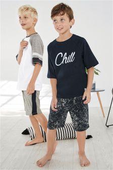 Chillin Short Pyjamas Two Pack (3-16yrs)