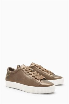 Leather Flatform Trainers