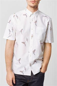 Рубашка с попугаями