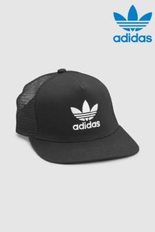 adidas Originals Black Trefoil Trucker Cap