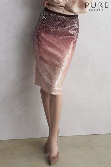 Pure Collection Ombre Sequin Pencil Skirt