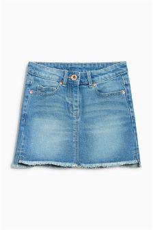 Stepped Hem Denim Skirt (3-16yrs)