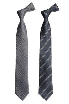 Два галстука (фактурный, полосатый)