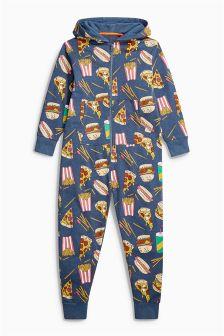 汉堡图案连体服 (3-16岁)