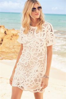 Crochet Floral Dress