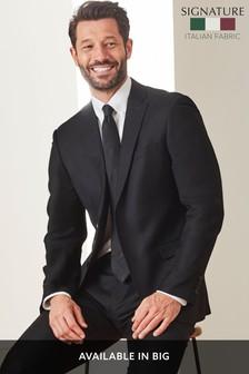 Signature Italian Wool Suit: Tailored Fit Jacket