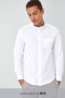 Long Sleeve Oxford Grandad Shirt