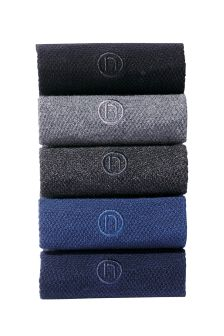Textured Socks Five Pack