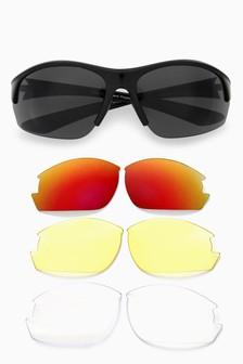 Interchangeable Lens Sport Style Sunglasses