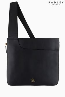 Radley Black Pockets Large Zip Top Across Body Bag