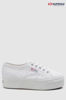 Superga® White Canvas 2790 Flatform