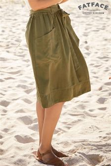 Fat Face Forest Green Juno Midi Skirt