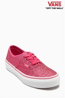 Różowe buty z brokatem Vans Authentic