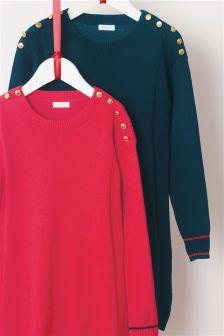 Button Detail Dress (3-16yrs)