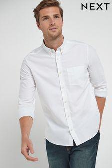 Оксфордская рубашка с длинным рукавом
