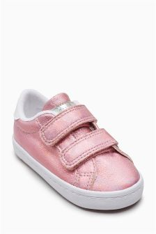 Metallic Touch Fastening Trainers (Younger Girls)