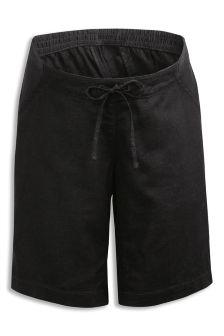 Maternity Linen Blend Shorts