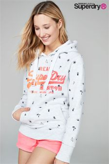 Superdry All Over Print Grey Hoody