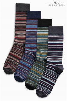 Stripe Socks Four Pack