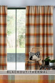 Ashworth Woven Check Curtains